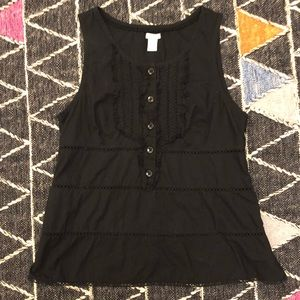 ♡ Anthropologie Eyelet Ruffle Sleeveless Top 14 ♡